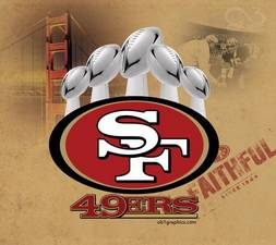 5 SAN FRANCISCO 49ers VINCE LOMBARDI TROPHIES