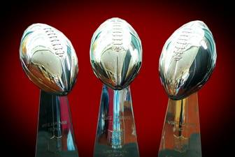 3 WASHINGTON REDSKINS VINCE LOMBARDI TROPHIES