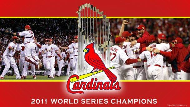 ST LOUIS CARDINALS WORLD SERIES TROPHY