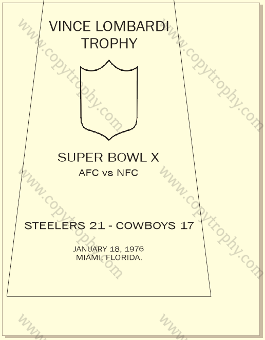STEELERS OFFICIAL ENGRAVING