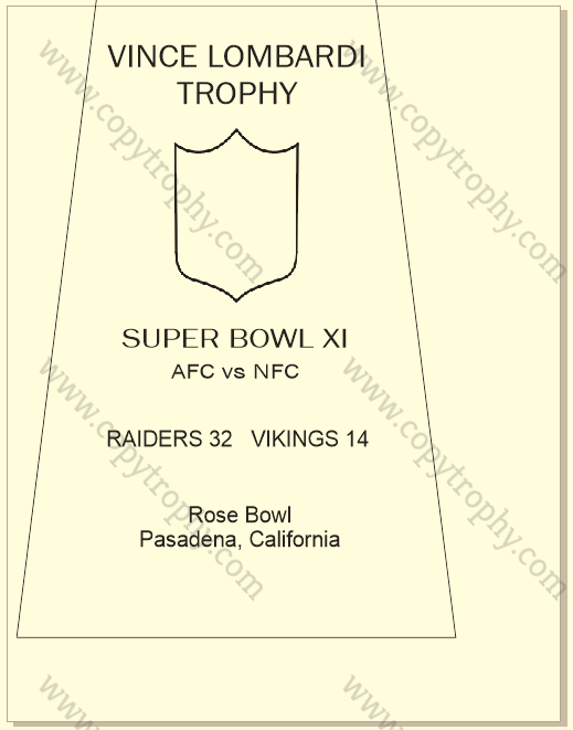 RAIDERS ENGRAVING WITH LOCATION AND SCORES