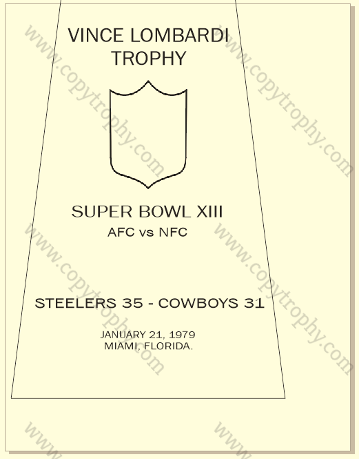 SUPER_BOWL_13_STEELERS-1-1 Vince Lombardi Trophies, Pittsburgh Steelers Collection