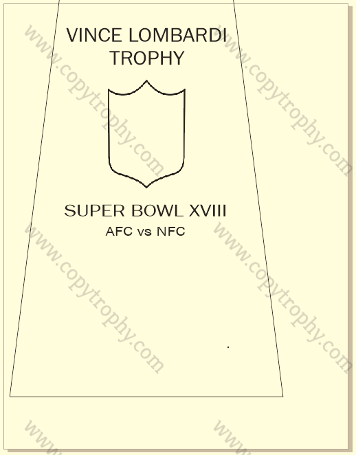 SUPER_BOWL_18_RAIDERS-1 Vince Lombardi Trophy, Super Bowl 18, XVIII Los Angeles Raiders