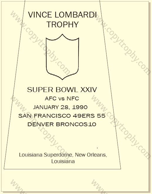 SUPER_BOWL_24_SF_49ers-1 Vince Lombardi Trophy, Super Bowl 24, XXIV San Francisco 49ers