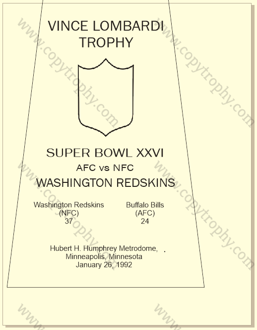 SUPER_BOWL_26_REDSKINS-1 Vince Lombardi Trophy, Super Bowl 26, XXVI Washington Redskins