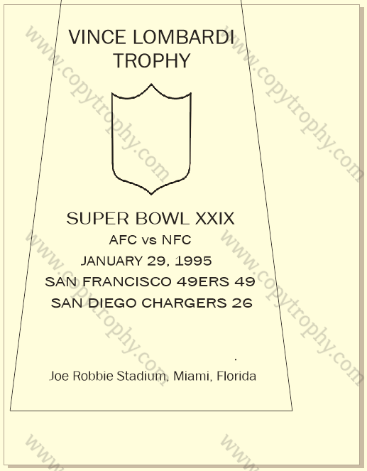 49ers OFFICIAL ENGRAVING