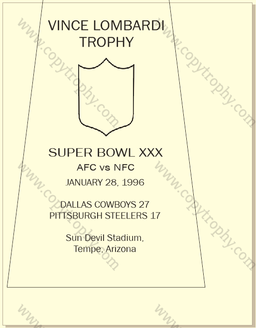 COWBOYS ENGRAVING WITH LOCATION AND SCORES