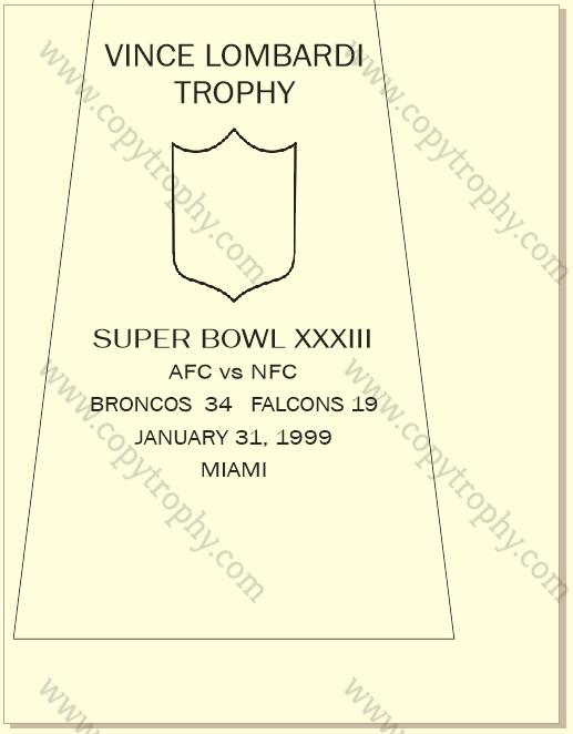 SUPER_BOWL_33_BRONCOS-1 Vince Lombardi Trophy, Super Bowl 33, XXXIII Denver Broncos