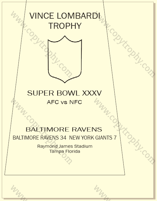 SUPER_BOWL_35_RAVENS-1 Vince Lombardi Trophy, Super Bowl 35, XXXV Baltimore Ravens