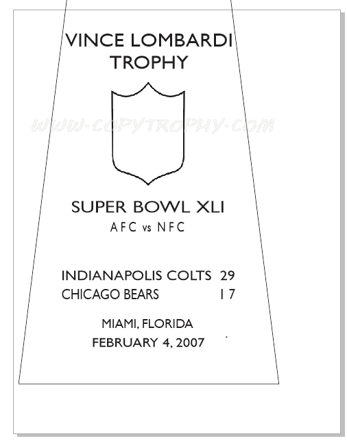 SUPER_BOWL_41_COLTS-1 Vince Lombardi Trophy, Super Bowl 41, XLI Indianapolis Colts