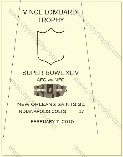 SUPER_BOWL_44_SAINTS-2 Vince Lombardi Trophy, Super Bowl 44, XLIV New Orleans Saints