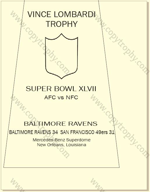 SUPER_BOWL_47_RAVENS-1 Vince Lombardi Trophies, Baltimore Ravens Super Bowl Collection