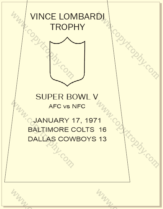BALTIMORE COLTS OFFICIAL ENGRAVING