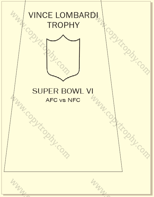 SUPER_BOWL_6_COWBOYS-1-1 Vince Lombardi Trophy, Super Bowl 6, VI Dallas Cowboys