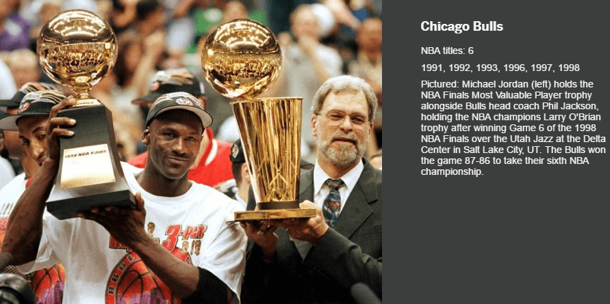 CHICAGO BULLS LARRY O BRIEN TROPHY