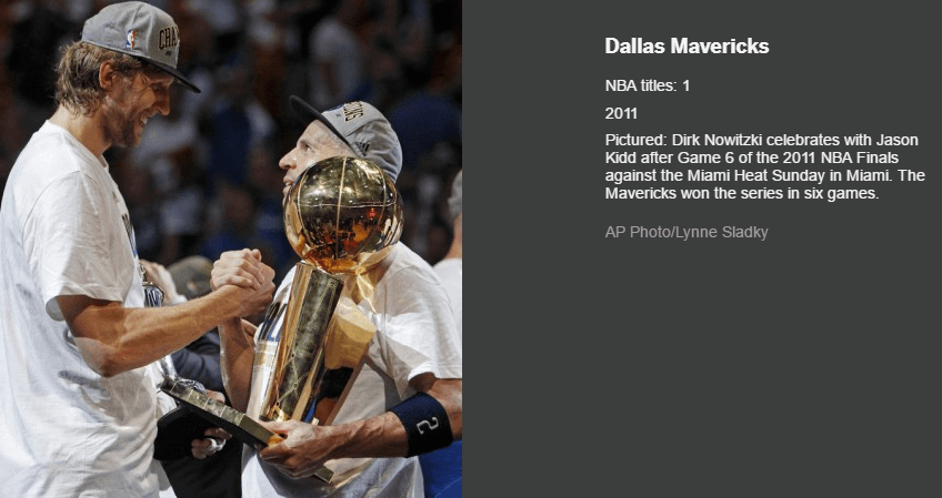 DALLAS MAVERICKS LARRY O BRIEN TROPHY