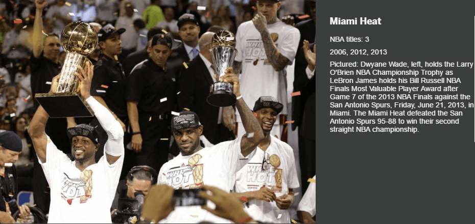 MIAMI HEAT LARRY O BRIEN TROPHY