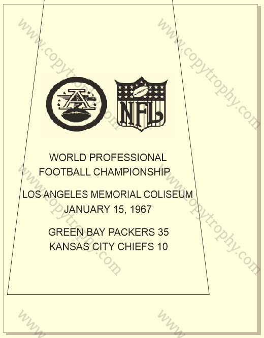 SUPER_BOWL_1_PACKERS-1 Vince Lombardi Trophies, Green Bay Packers Super Bowl Collection