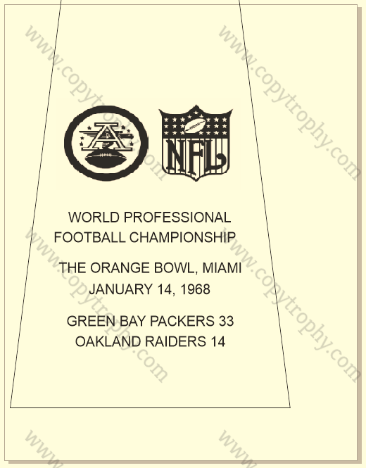 SUPER_BOWL_2_PACKERS-1 Vince Lombardi Trophies, Green Bay Packers Super Bowl Collection