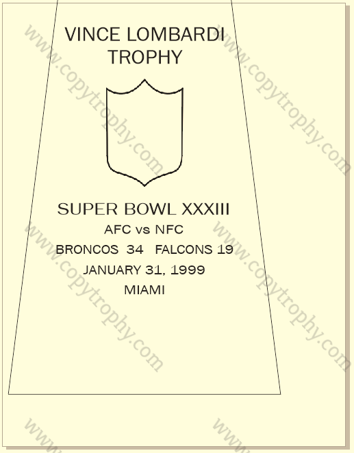 SUPER_BOWL_33_BRONCOS-1 Vince Lombardi Trophies, Denver Broncos Super Bowl Collection