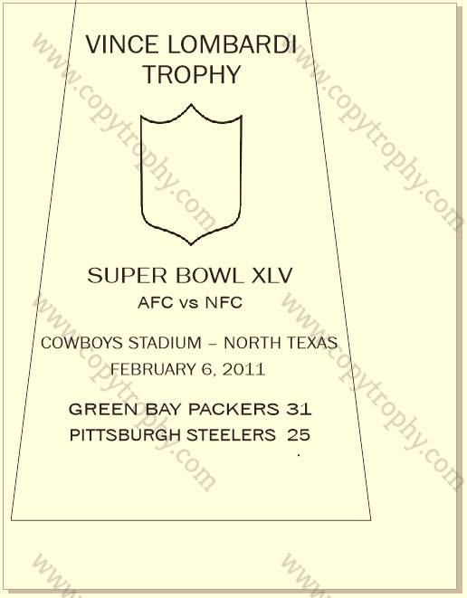 SUPER_BOWL_45_PACKERS Vince Lombardi Trophies, Green Bay Packers Super Bowl Collection