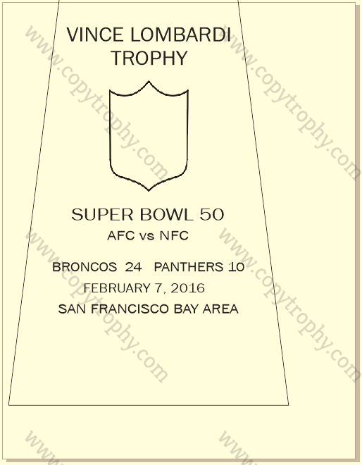 SUPER_BOWL_50_BRONCOS Vince Lombardi Trophies, Denver Broncos Super Bowl Collection