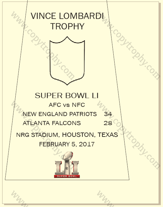 Super_Bowl_LI_with_Logo_Patriots-1 Vince Lombardi Trophy, Super Bowl 51, LI New England Patriots
