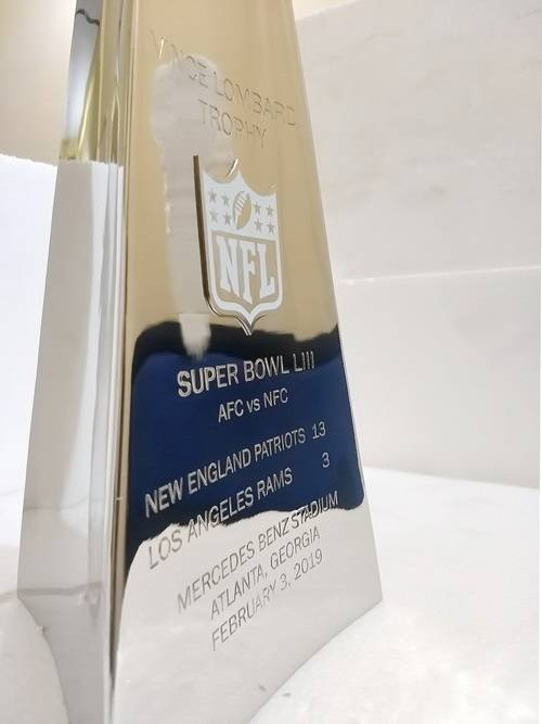 Super-Bowl-LIII Vince Lombardi Trophy, Super Bowl 53, LIII New England Patriots